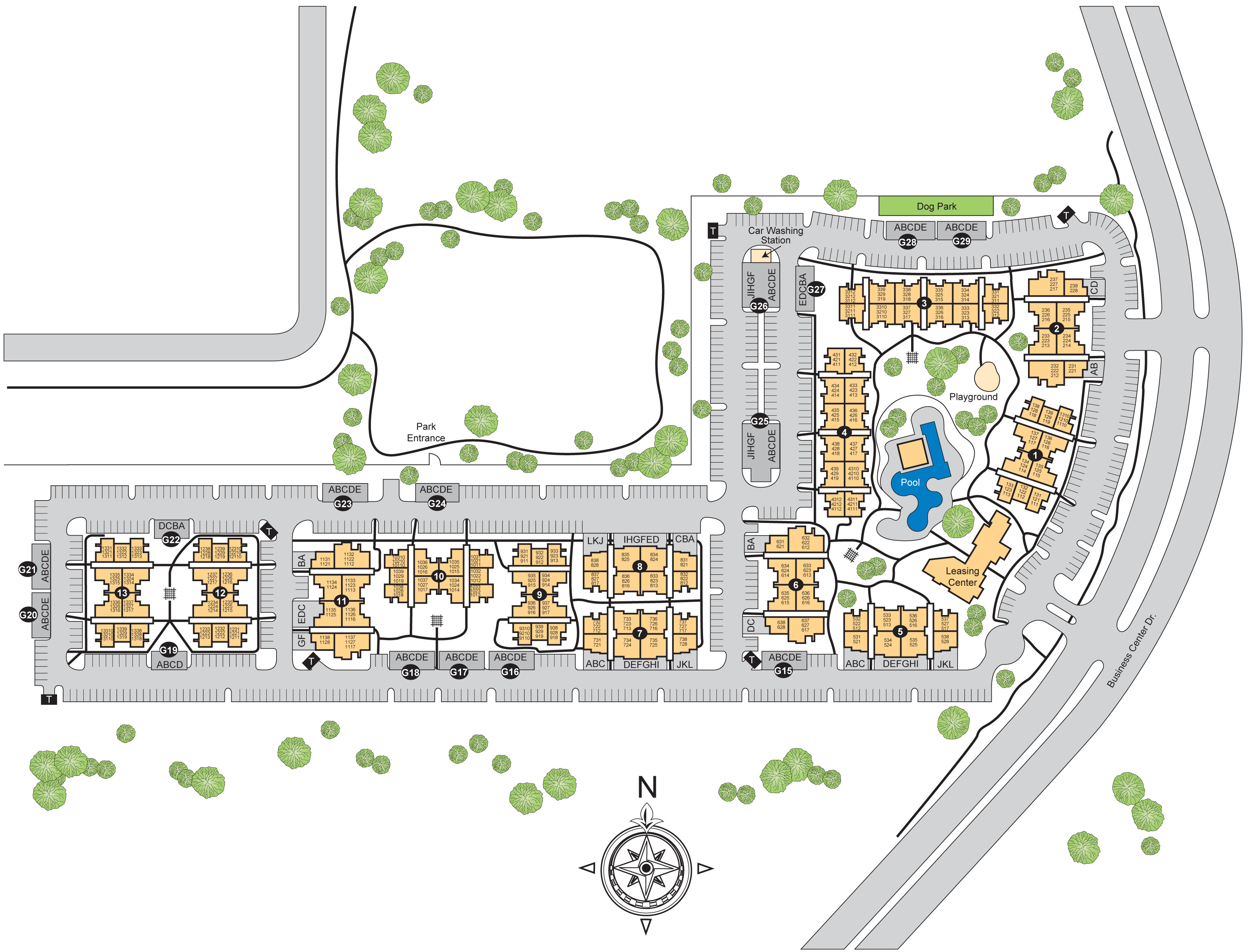 4 Bedroom Apartments Pearland Texas - Site plan